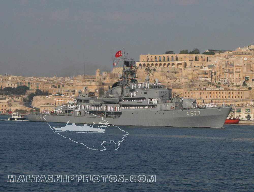 Turkish Navy - Ex-German Rhein Class - A577 TCG Sokullu Mehmet Pasa - 31.07.2008