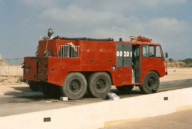 Airport Fire Section, Malta   - Gozo 1 - Thornycroft Nubian Major Mk7 Crash Tender