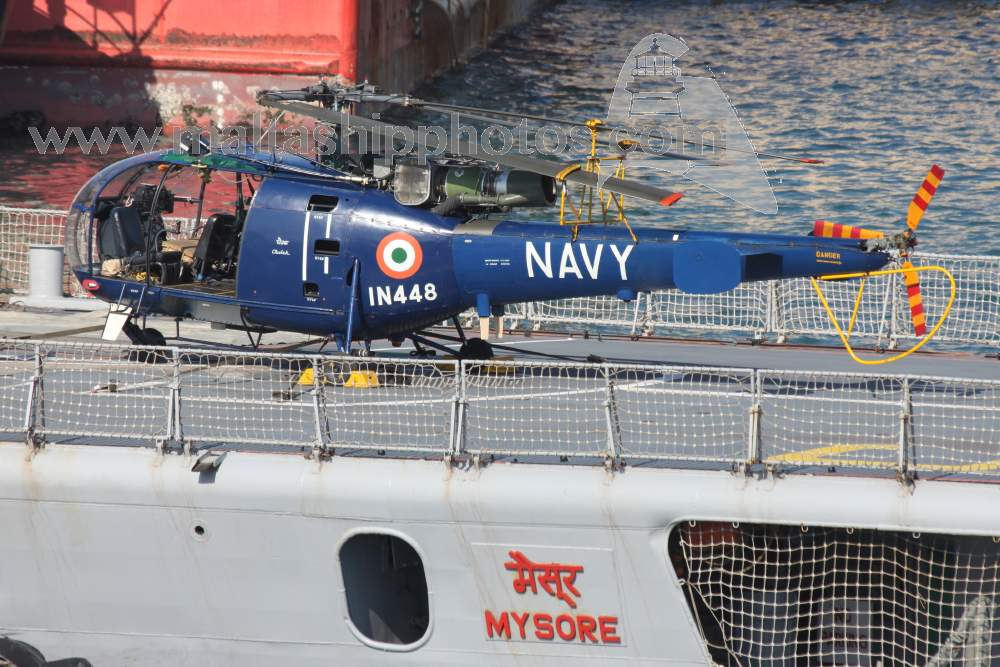 Indian Navy  - IN 448 - SA316B Alouette III - 11.03.2011